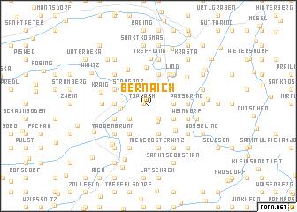 map of Bernaich