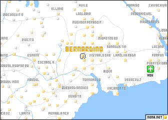 map of Bernardino