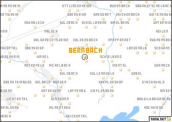 map of Bernbach