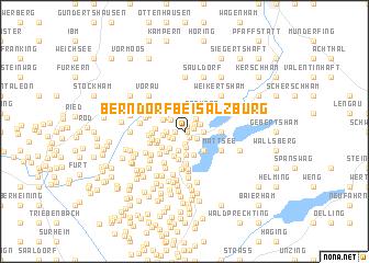 map of Berndorf bei Salzburg