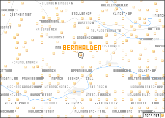 map of Bernhalden