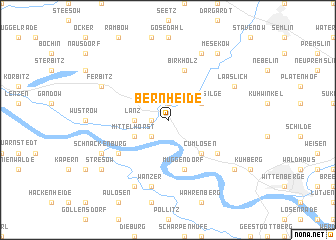 map of Bernheide
