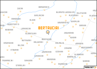 map of Bertaučiai