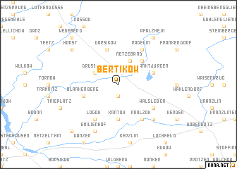 map of Bertikow
