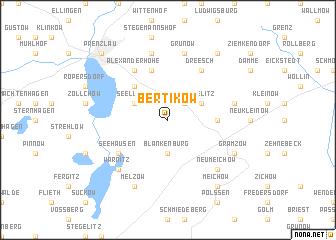 map of Bertikow