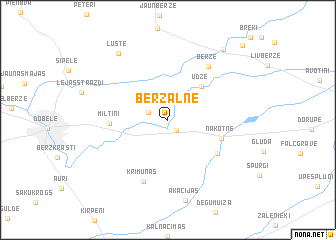 map of (( Bērzalne ))