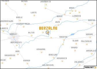 map of (( Bērzalne ))