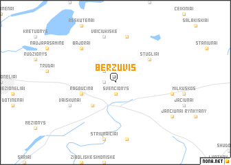 map of Beržuvis