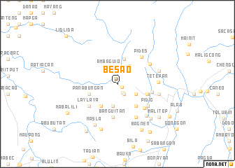 map of Besao