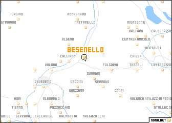 map of Besenello
