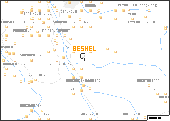 map of Beshel
