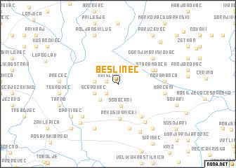 map of Bešlinec
