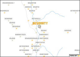 map of Besomaty