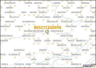map of Beszyce Górne