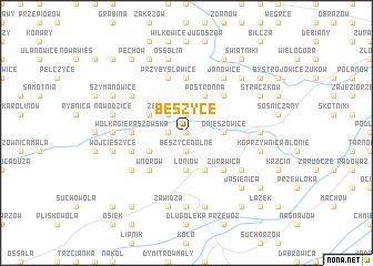 map of Beszyce