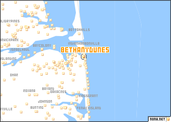 map of Bethany Dunes