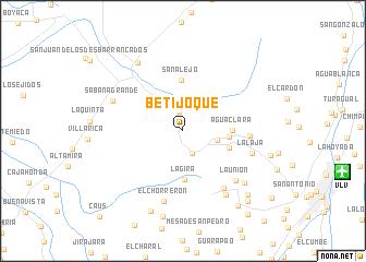 map of Betijoque