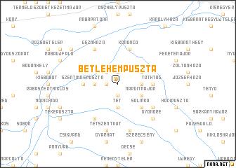 map of Betlehempuszta