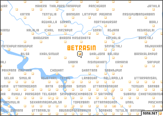 map of Betrāsin