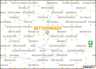 map of Bettenhausen