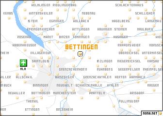 map of Bettingen