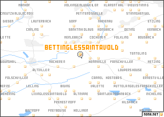 map of Betting-lès-Saint-Avold
