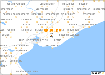 map of Beusloe