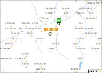 map of Beuson