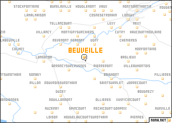 map of Beuveille