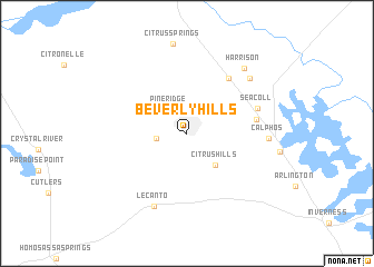 map of Beverly Hills