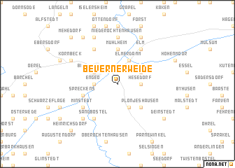 map of Bevernerweide