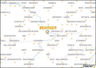map of Bewingen