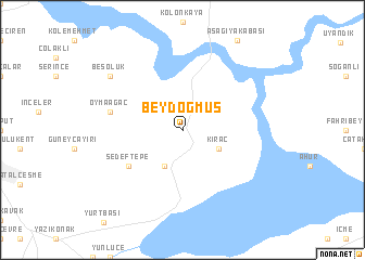 map of Beydoğmuş