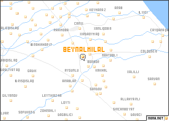 map of Beynǝlmilǝl