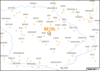 map of Bēzal