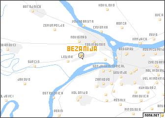 map of Bežanija