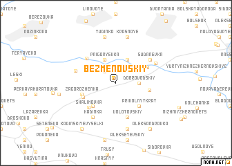 map of Bezmenovskiy
