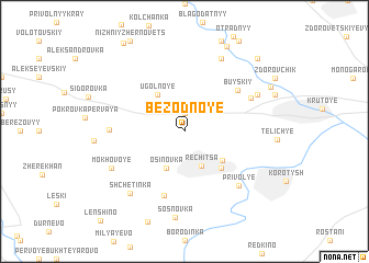 map of Bezodnoye