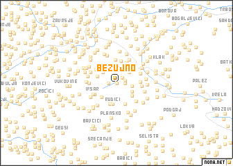 map of Bezujno