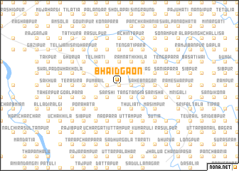 map of Bhāidgaon