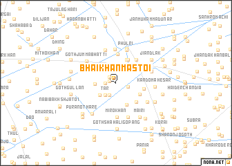 map of Bhāi Khān Mastoi