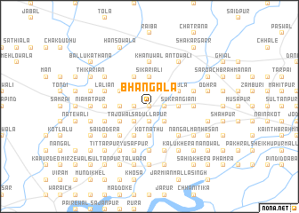 map of Bhangāla