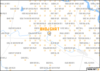 map of Bhojghāt