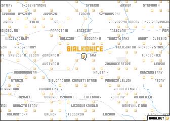 map of Białkowice