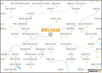 map of Białkowo
