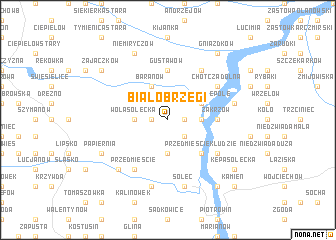 map of Białobrzegi