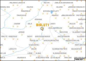 map of Białuty