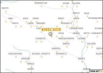 map of Biaschina