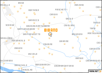 map of Bibano