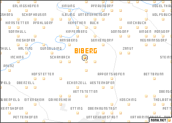 map of Biberg